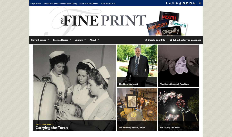 Screenshot from The Fine Print